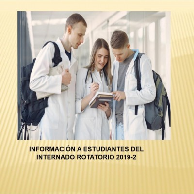 ESTUDIANTES DEL INTERNADO ROTATORIO 2019-2