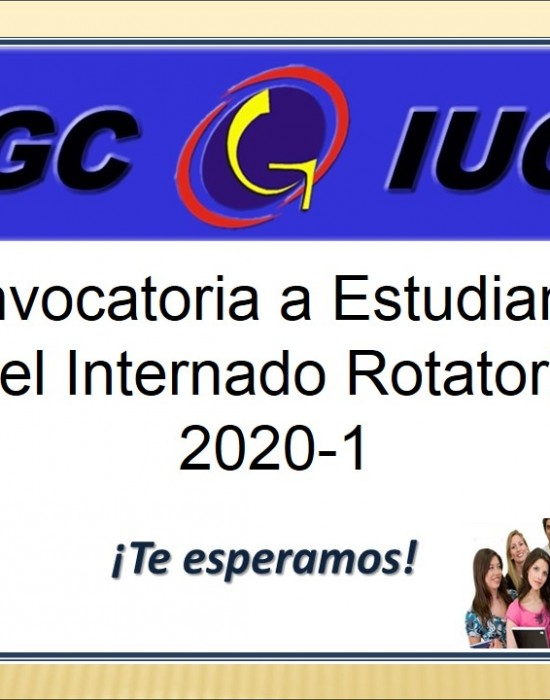 CONVOCATORIA INTERNADO ROTATORIO 2020-1